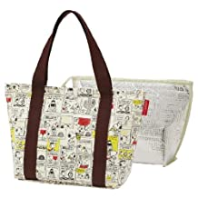 cold insulation lunch bag double Snoopy comic KWW1 washable (Japan import / The package and the manual are written in Japanese)