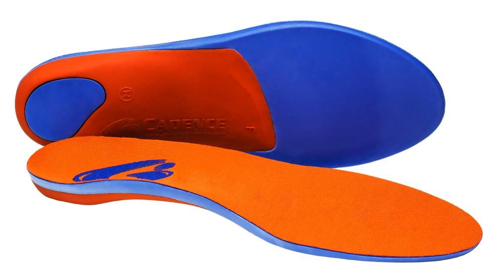 Cadence Insoles Orthotic Shoe Insoles ((D) MEN 6.5-7.5 WOMEN 7.5-8.5, Orange)