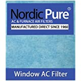Nordic Pure 15x24-WAC-HP44pads Window Air Conditioner Filter with 15 by 24 Pads