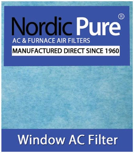 Nordic Pure Window Air Conditioner Filter Pads, 15 x 24-Inches (15x24-WAC-HP44pads-6) by Nordic Pure