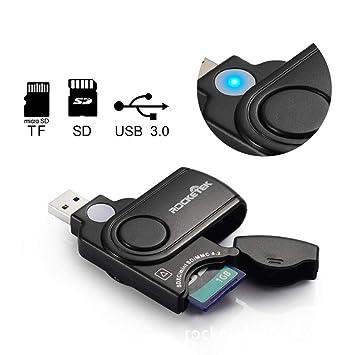 DZSF Lector de Tarjetas de Memoria múltiple USB 3.0 2 en 1 ...