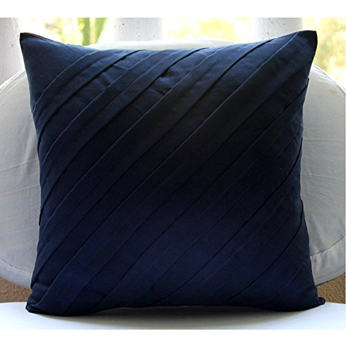 "Designer Navy Blue Euro Pillow Shams, 26""x26"" Euro Pillow Co"