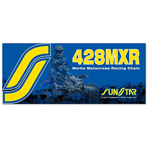 Sunstar 428 MXR1 Works MX Racing Chain (134 Links) (Gold)