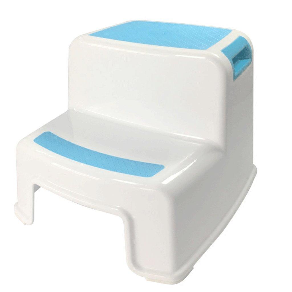 JHEY Doppelhöhe Trittleiter Stuhl Kind waschen Schritt Hocker Schritt auf dem Fuß Kunststoff kleine Bank Badezimmer Baby Slip Kinderstuhl