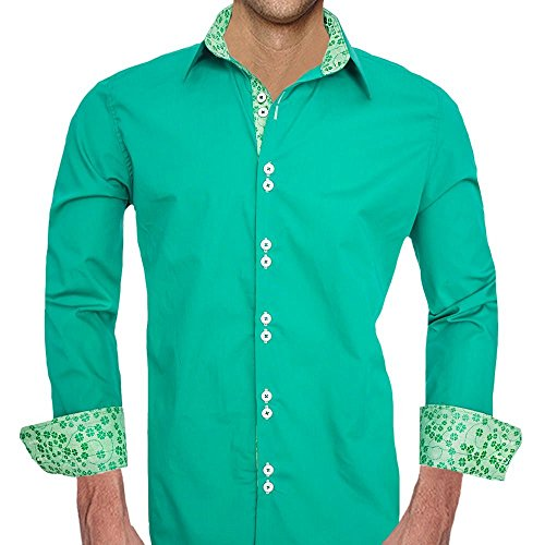 Green St Patricks Day Dress Shirts - Made in the USA by Anton Alexander