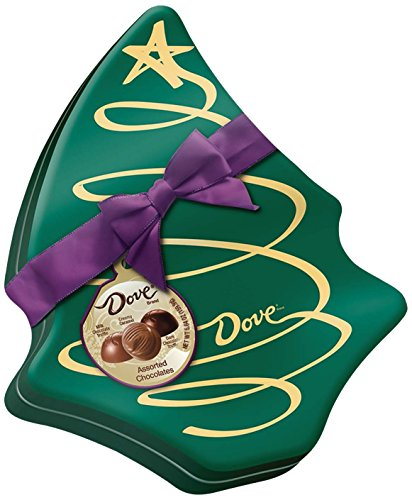 DOVE Mixed Chocolate Truffles in Christmas Tree Gift Box 5.6-Ounce Tin (Dove Tin)