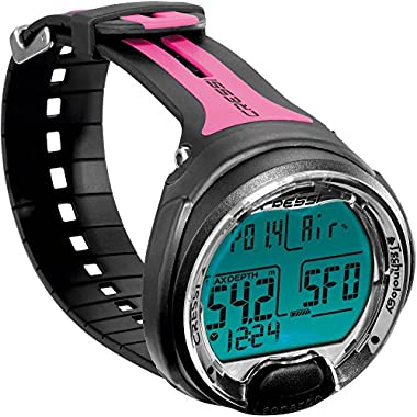 Cressi Leonardo Wrist Diving Computer (Black/Pink)