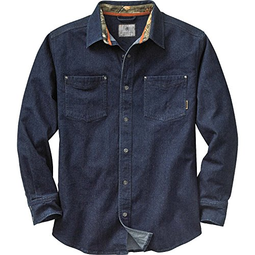 Legendary Whitetails Men's Denali Denim Shirt Denim Large (Big Tall Denim Shirts)