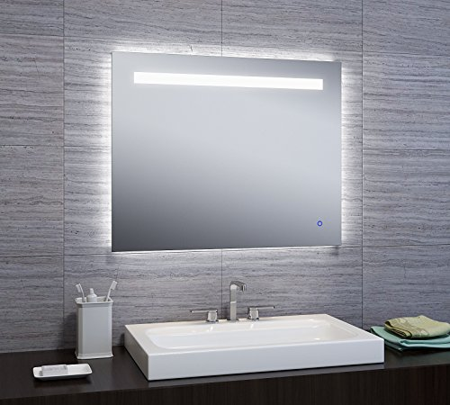 "24""x30"" LED Illuminated Wall Mount Bathroom Vanity Mirror w/"