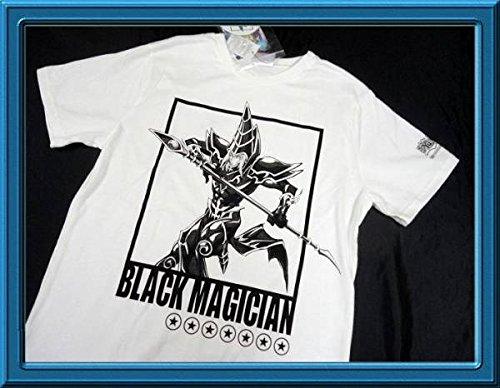 遊戯王 ブラックマジシャン 半袖Tシャツ 白 Lサイズ メンズ ステッカー付 164