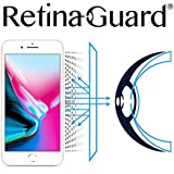 RetinaGuard Anti-UV, Anti-blue Light Screen protector for iPhone8 Plus - SGS & Intertek Tested - Blocks Excessive Harmful Blue Light, Reduce Eye Fatigue and Eye Strain