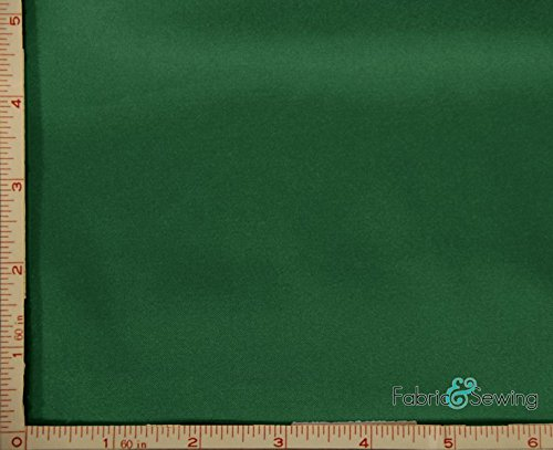 Emerald Green Shiny & Dull Stretch Charmeuse Satin Fabric 2 Way Stretch Polyester Spandex 5 Oz 57-58