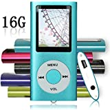 Tomameri Blue Portable MP4 Player MP3 Player Video Player with Photo Viewer , E-Book Reader , Voice Recorder with 16 GB Micro SD Card