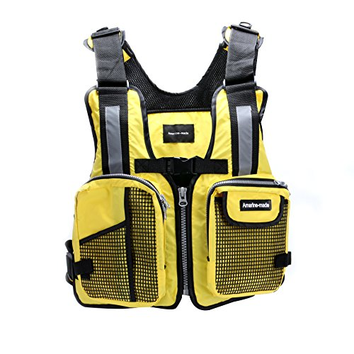 Amairne-made Boat Buoyancy Aid Sailing Kayak Fishing Life Jacket Vest - D11 - Yellow