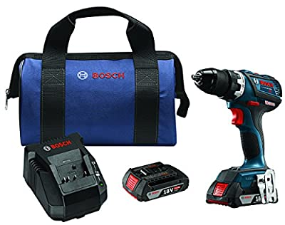 "Bosch DDS183-02 18V EC Brushless Compact Tough 1/2"" Drill/Driver Kit"