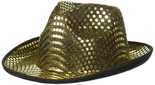 Forum Novelties Adult Gold Sequin Fedora Hat -