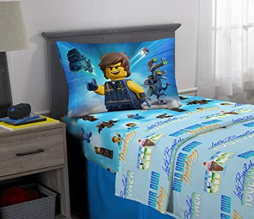 Franco Kids Bedding Super Soft Microfiber Sheet Set, 3 Piece Twin Size, Lego Movie 2