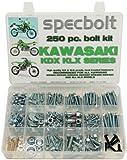 250pc Specbolt Kawasaki KDX two stroke Bolt Kit for Maintenance & Restoration of Dirtbike OEM Spec Fastener KDX80 KDX125 KDX175 KDX200 KDX220 KDX250 & KDX450