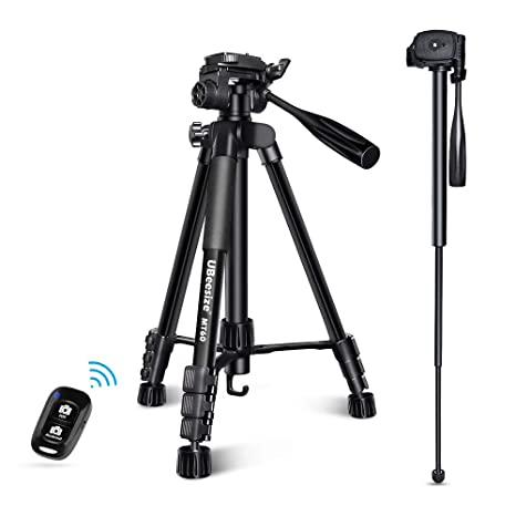 U Beesize 60 Inch Camera Tripod, Mt60 Aluminum Monopod Tripod Combo, Lightweight Professional Travel Video Camera Stand With Carry Bag For Dslr, Slr, Cell Phone … by U Beesize
