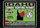 """Idaho Zombie Hunting Permit"" Funny Bumper or Window Sticker"