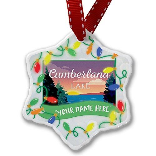 Personalized Name Christmas Ornament, Lake retro design Lake Cumberland - Ga Atlanta Cumberland