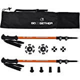 Go2gether -Hiker- Trekking Poles Telescopic Aircraft Aluminum Alloy ( Pack of 2 poles)