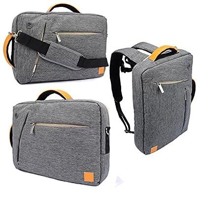 VanGoddy 3 in 1 Shoulder Bag Backpack and Messenger Bag for RCA Cambio /Pro10 / Viking / Maven / RCT / Pumpkin X / Quantam View 10.1 Tablet(Gray)