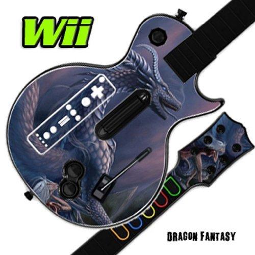(Mightyskins Skin Decal Skin Compatible with Guitar Hero 3 III Nintendo Wii Les Paul - Dragon Fantasy )