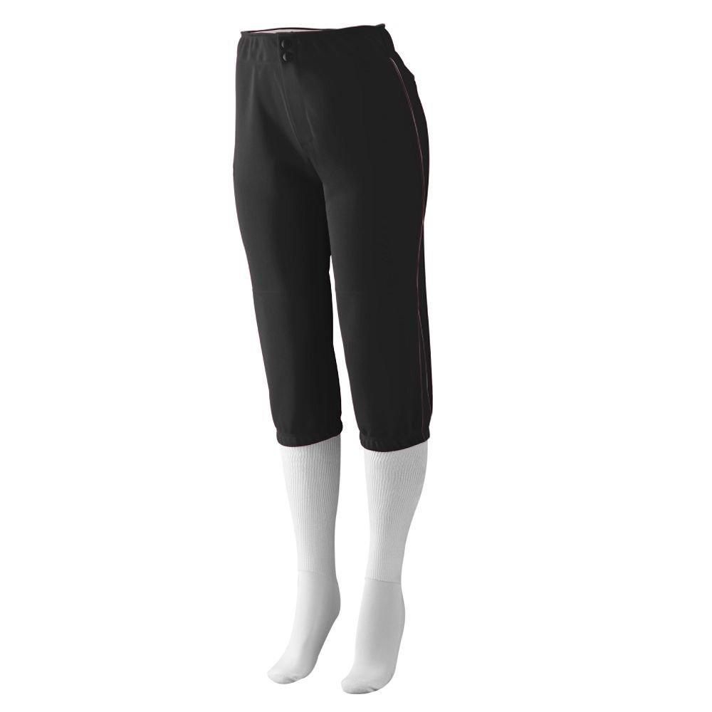 Augusta SportswearレディースドライブLow Riseソフトボールパンツ B00GK5TR5S M|ブラック/ブラック ブラック/ブラック M