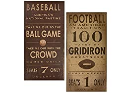 Kole Vintage Sports Games Canvas Wrapped Wall Art