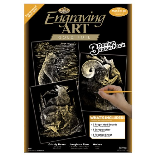(Royal and Langnickel Engraving Art 3 Design Value Pack, Gold )