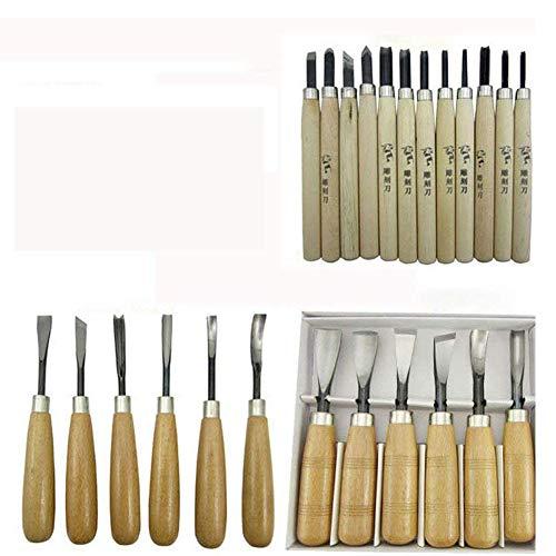 WAYCOM 24PCS Wood Knife Kit Set Wood Carving Kit,Professional Chisel Set, including Small, Middle, Large size (24PCS) by WAYCOM