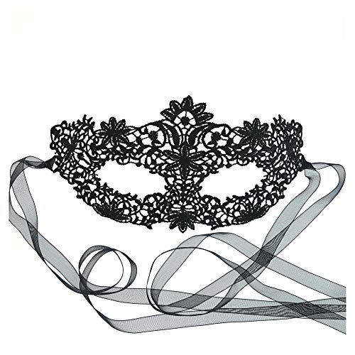 Gorgeous Black Coachella Lace Masquerade Mask by Samantha Peach