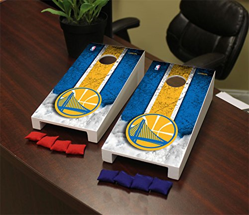 Mini Warrior Bag (Golden State Warriors NBA Desktop Mini Cornhole Game)