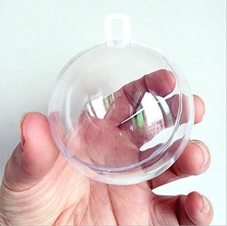 Anera 10/pcs Acrylique Transparent Remplissables Balles de Plastique pour Mariage D/écoration de No/ël 60mm de P/âques sur Pied ou incassable DIY Craft Ornement Claire