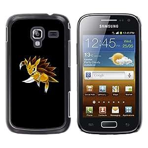 Stuss Case / Funda Carcasa protectora - Meter Monster erizo amarillo - Samsung Galaxy Ace 2
