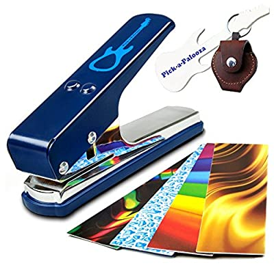 Pick-a-Palooza® DIY Guitar Pick Punch - The Premium Guitar Pick Maker and a Leather Key Chain Pick Holder from PICMI