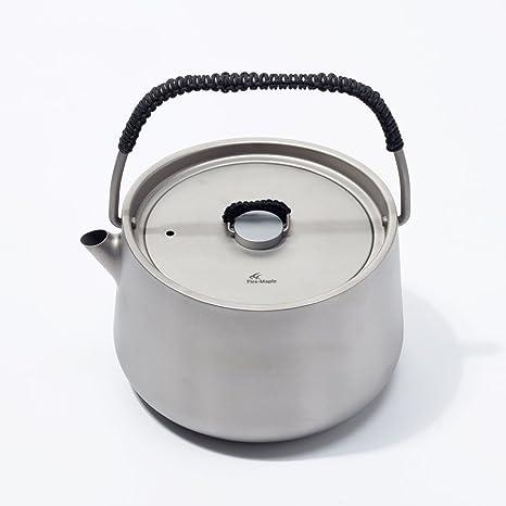 Fuego-Arce, cafetera/Tetera - hervidor de Agua eléctrico, Camping Panna Titanio Hervidor de Agua de 1 litro: Amazon.es: Deportes y aire libre
