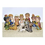 Christmas Nativity Set Scene Cartoon Figures Figurines Baby Jesus-12 PIECE SET NEW
