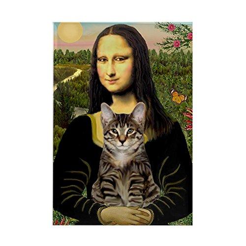 CafePress - Mona's Tiger Cat - Rectangle Magnet, 2