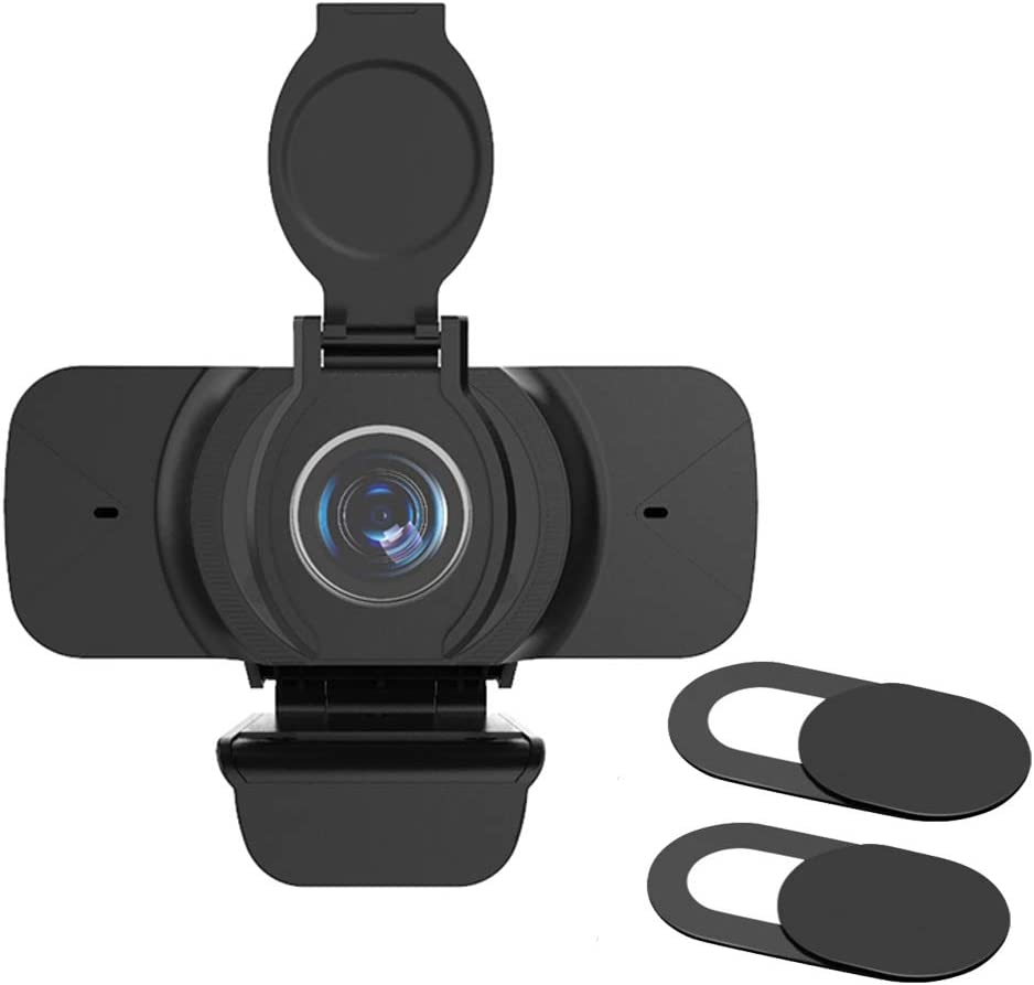MEKNIC Webcam with Microphone, Webcam Laptop USB PC Webcam, Flexible Rotate Clip,Free-Driver Installation, Webcam Video Recorder for Streaming, Conferencing (X5 1080P with Lens Cover)