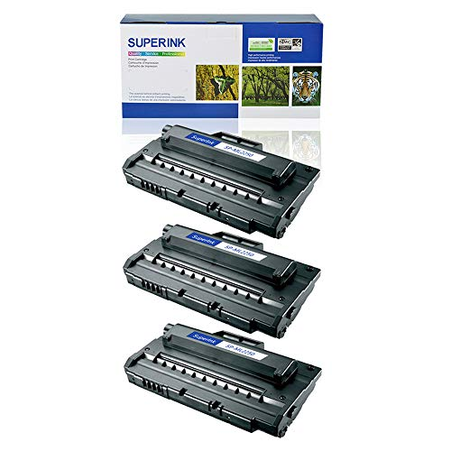 SuperInk 3 Pack High Yield Compatible Toner Cartridge Replacement for Samsung ML-2250 ML-2250D5 Black use in Samsung ML-2250 ML-2251N ML-2251NP ML-2251W ML-2252W Printer ()