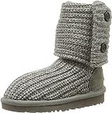 UGG Australia Girls' Cardy Knit Boot Grey 4 M US