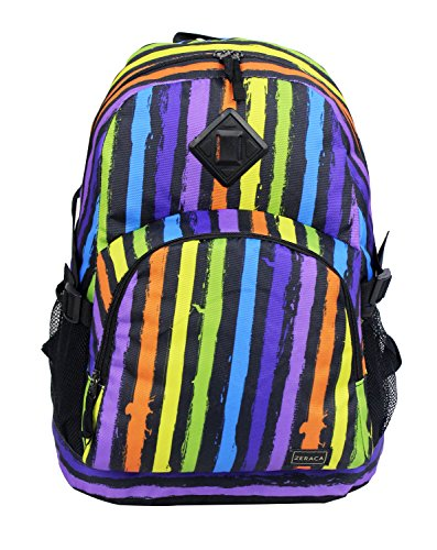 Zeraca Great Deals Large Student Backpacks School Book Bags (Claret Stripe)