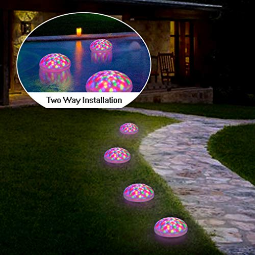 SUNWIND Swimming Pool Lights Floating Solar Underwater RGB Pond Lights Waterproof with Multi Color...