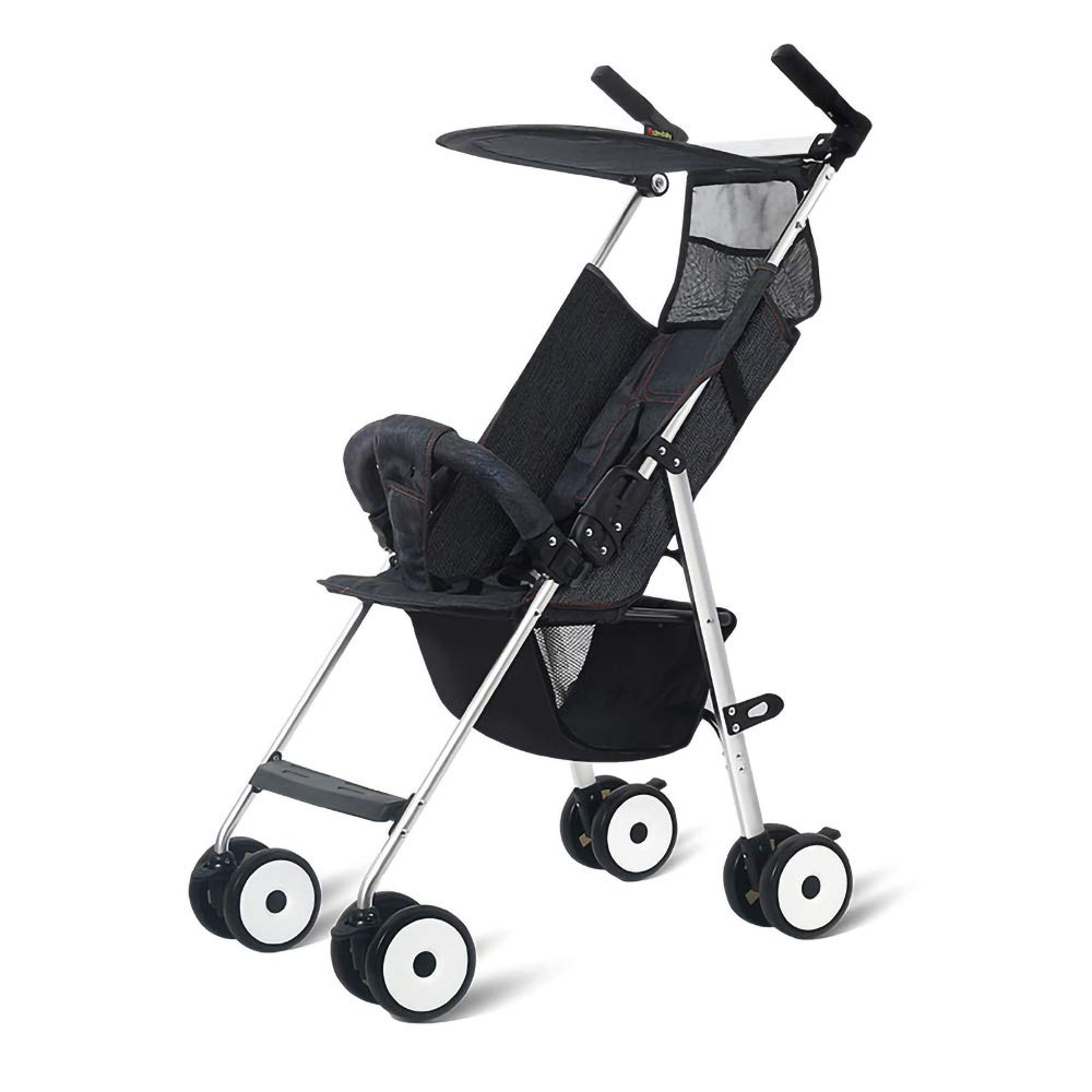 HKJCC Baby Stroller Can Sit and Lie Super Light Portable Folding Children High Landscape Hand Push Simple Can Be on The Plane Pocket Umbrella by HKJCC (Image #1)