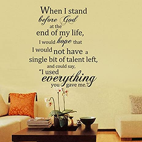 Amazon.com: When I Stand Before God Vinyl Bible Wall Decal ...