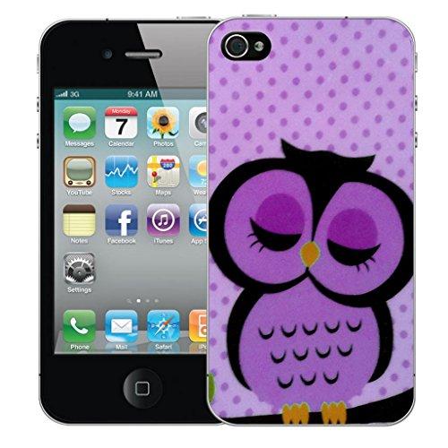 Mobile Case Mate iPhone 5 Concepteur Dur IMD coque Affaire Couverture Case Cover Pare-chocs Coquille - Sleepy Purple Owl Modèle