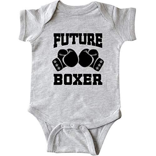 inktastic - Boxing Future Boxer Infant Creeper Newborn Heather Grey 34b75