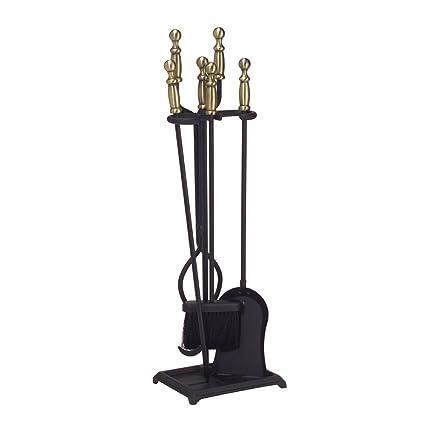 Fabulous Minuteman International Westminster 5 Piece Fireplace Tool Set Antique Brass And Black Beutiful Home Inspiration Xortanetmahrainfo
